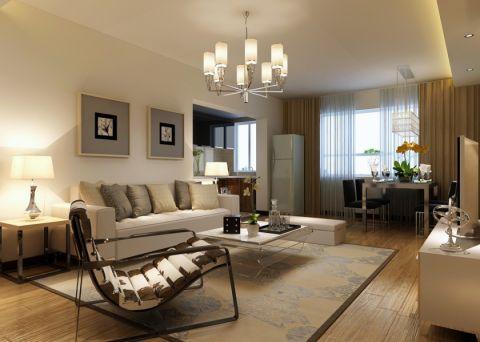 客厅茶几简约风格装饰图片