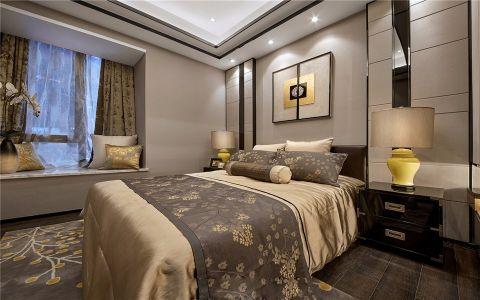 卧室咖啡色床欧式风格装潢图片