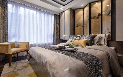 卧室彩色窗帘欧式风格装修设计图片