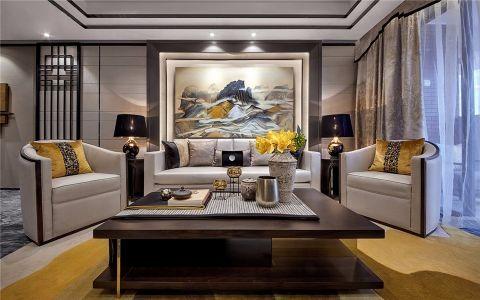 客厅咖啡色茶几欧式风格装饰设计图片