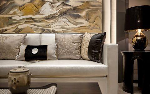 客厅白色沙发欧式风格装潢设计图片