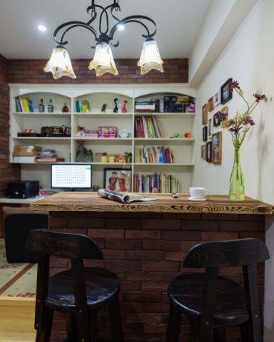 书房书架美式风格装潢图片