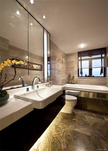 卫生间洗漱台现代简约风格效果图