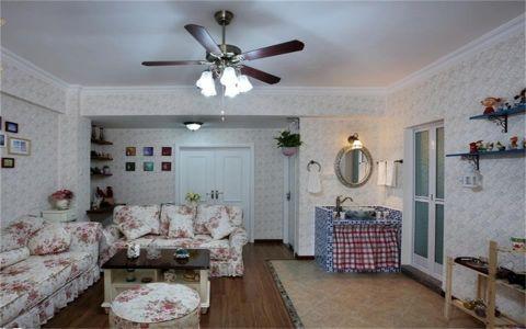 田园风格110平米两室两厅新房装修效果图