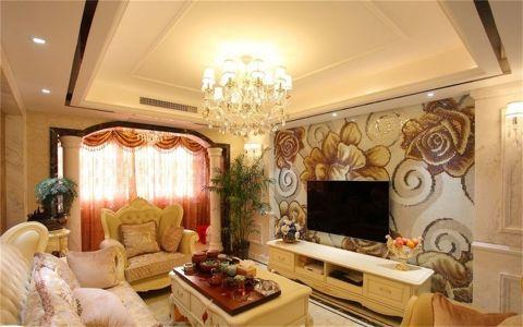 客厅电视柜欧式风格装饰效果图