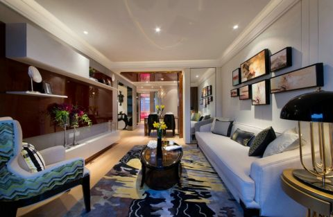 客厅照片墙现代简约风格装修图片