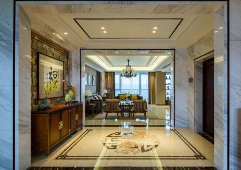 玄关地砖中式风格装潢设计图片