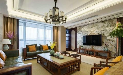 中式风格130平米大户型新房装修效果图