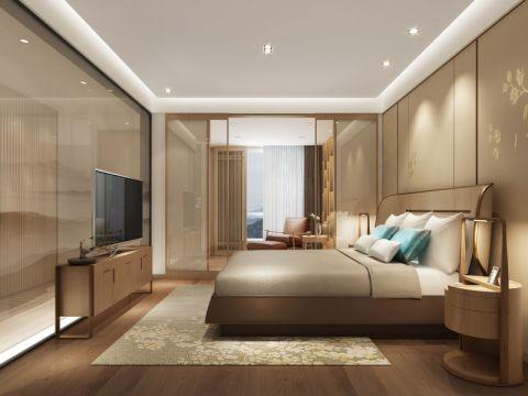 卧室床简约风格装修设计图片
