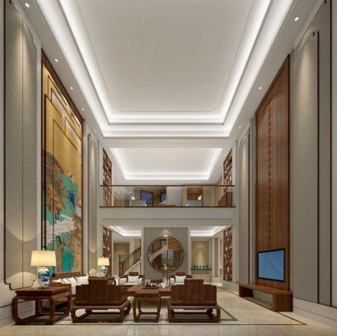 简中风格310平米别墅室内装修效果图