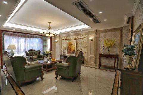 法式风格216平米别墅室内装修效果图