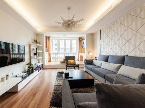中式风格110平米两室两厅新房装修效果图