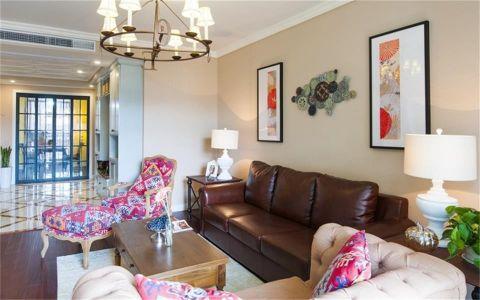 客厅茶几美式风格装饰设计图片