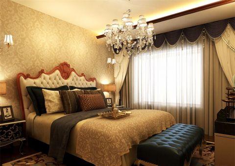 卧室白色吊顶简欧风格效果图