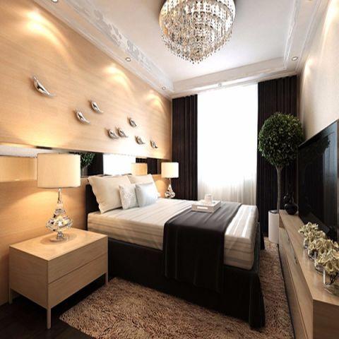 卧室米色吊顶现代风格装修图片