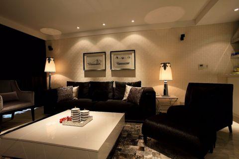 客厅白色茶几简约风格装饰效果图