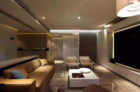 现代简约风格89平米三室两厅新房装修效果图