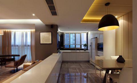 餐厅白色吊顶现代简约风格装饰设计图片