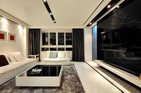 客厅白色茶几现代风格装饰效果图