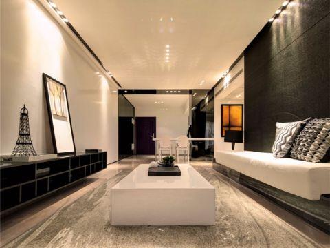 简约风格89平米三室两厅室内装修效果图