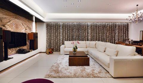 现代风格89平米三室两厅新房装修效果图