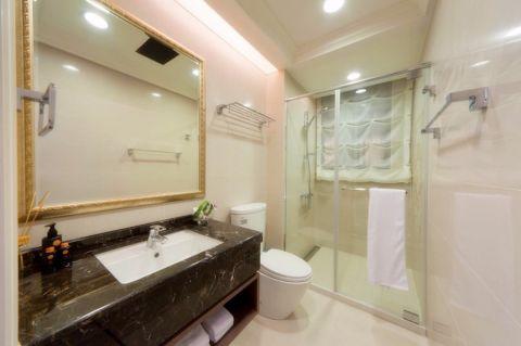 卫生间洗漱台后现代风格装修图片