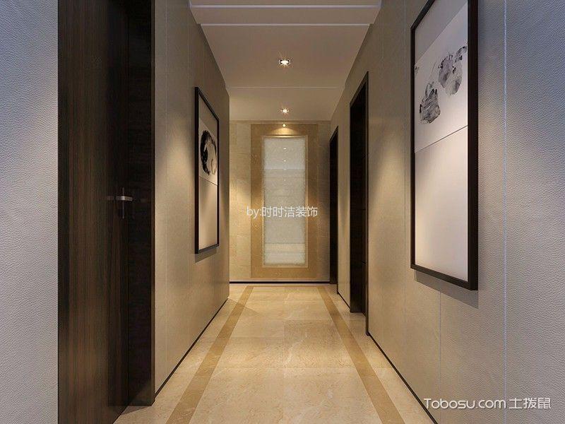 玄关黄色走廊新中式风格装饰设计图片