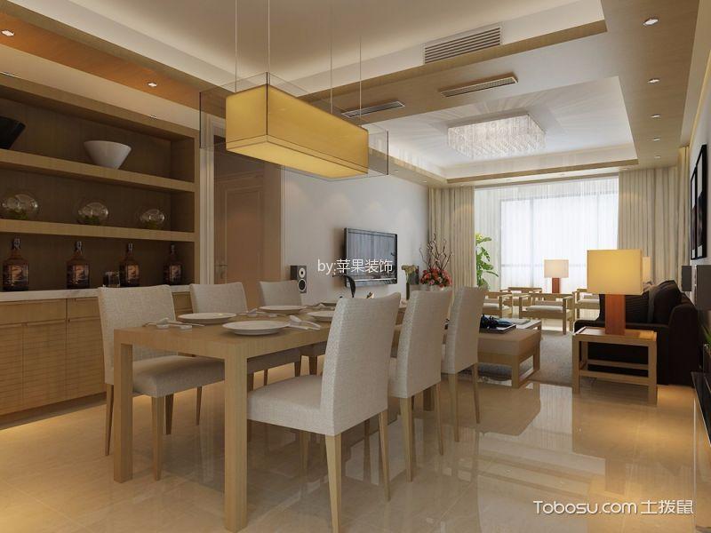 餐厅黄色餐桌日式风格装修图片