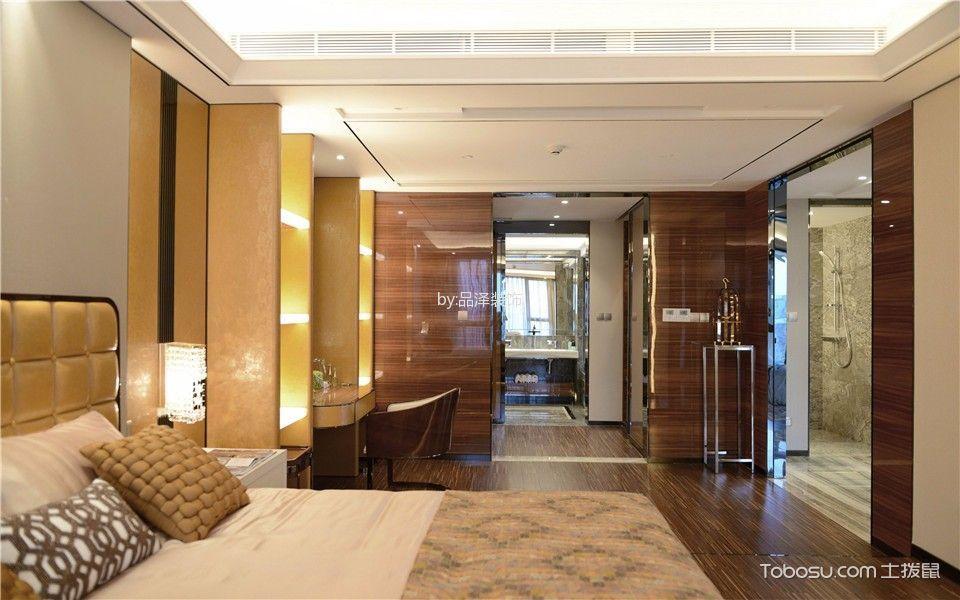 卧室咖啡色地板砖简欧风格装潢效果图