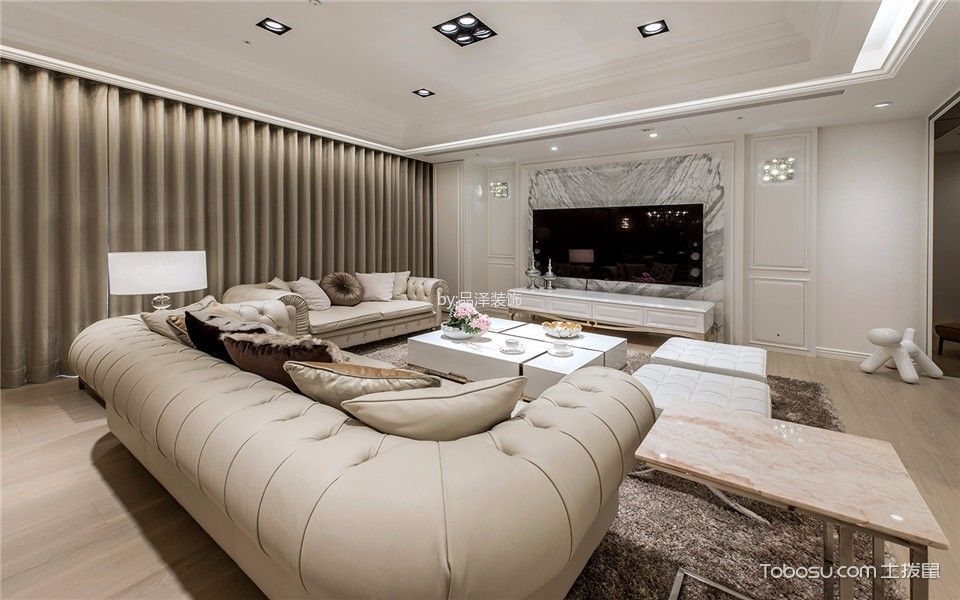 简欧风格135平米套房新房装修效果图