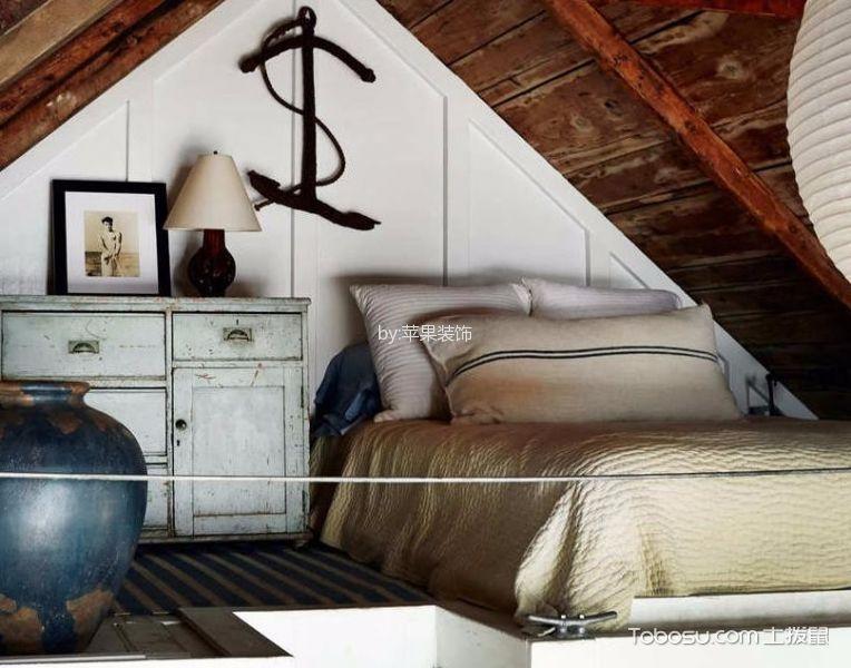 卧室白色背景墙田园风格装饰图片