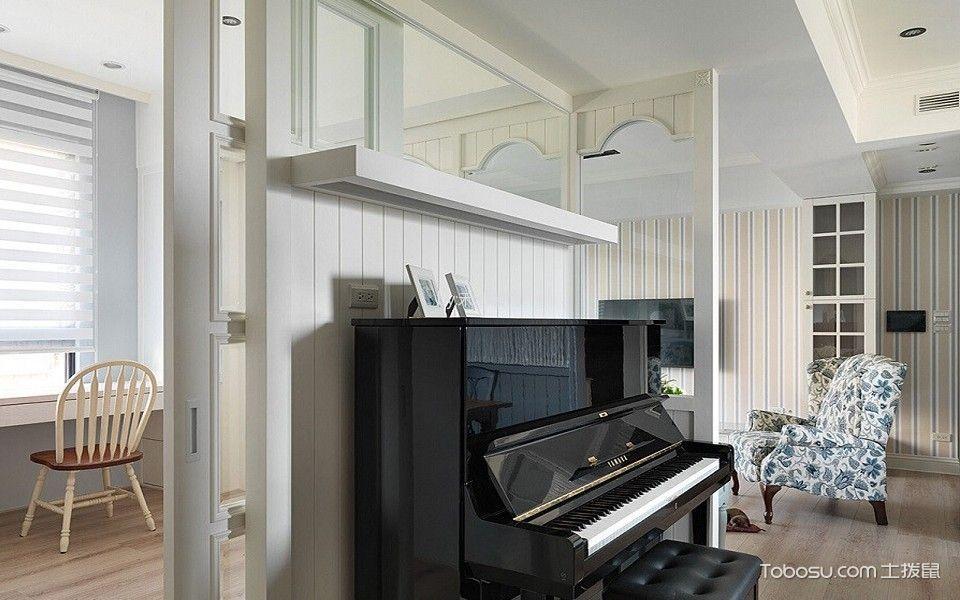 客厅咖啡色地板砖田园风格装修设计图片
