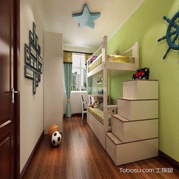 儿童房白色照片墙现代风格装潢效果图