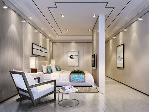 卧室隔断新中式风格装潢图片