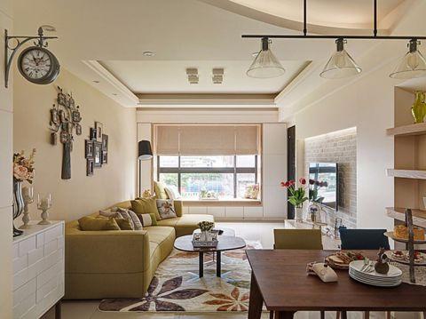 混搭风格112平米三室两厅新房装修效果图