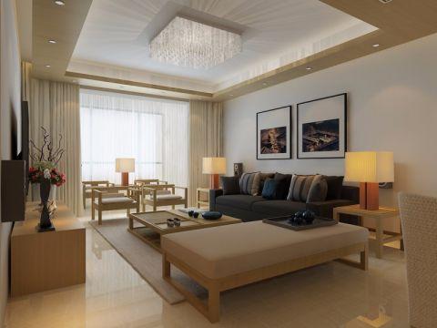 客厅茶几日式风格装饰效果图