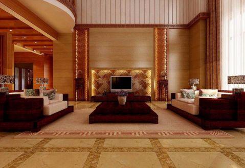 中式风格330平米别墅室内装修效果图