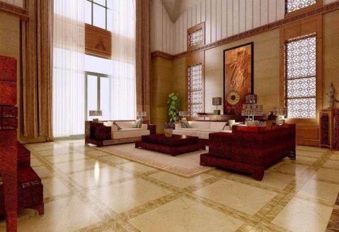 客厅地砖中式风格装饰效果图