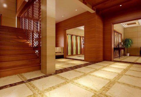 玄关楼梯中式风格装潢效果图