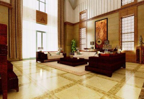客厅茶几中式风格装潢图片