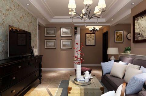 客厅黑色电视柜混搭风格装修效果图
