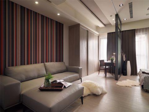客厅彩色背景墙简约风格装饰效果图
