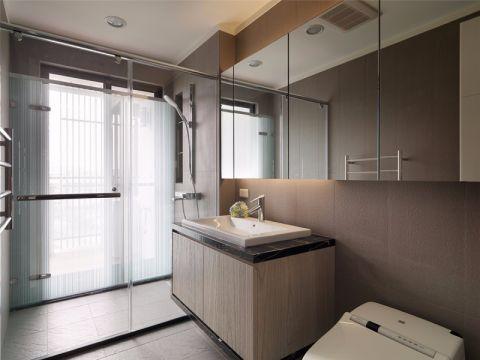 卫生间黄色洗漱台简约风格装饰图片