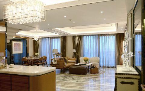 客厅白色茶几简欧风格效果图