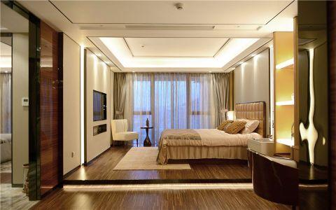 卧室咖啡色床简欧风格装饰效果图