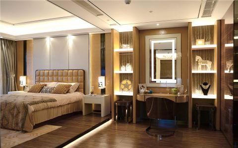 卧室黄色梳妆台简欧风格装修图片