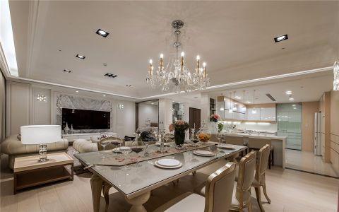 餐厅白色吊顶简欧风格装饰效果图