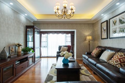 美式风格100平米三室两厅室内装修效果图