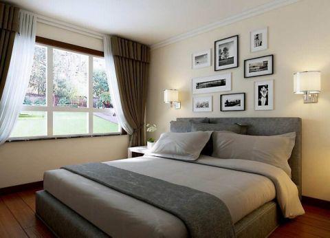 新中式风格90平米三室两厅新房装修效果图