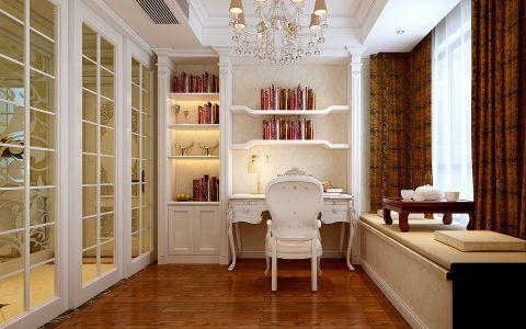 书房榻榻米简欧风格装饰图片